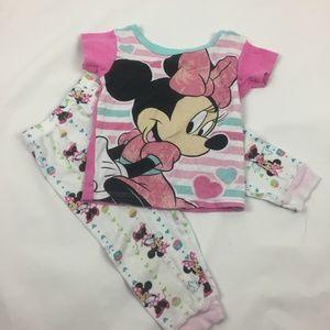 ❣️5/$20❣️ Minnie Mouse Pajamas 2T B15